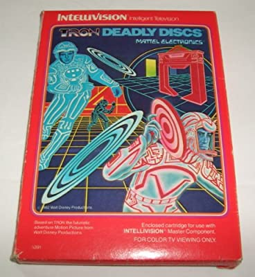 Tron Deadly Discs - Book Style Box (Intellivision) by Mattel