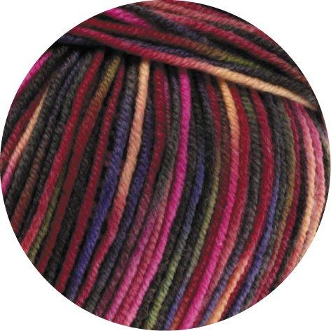 Lana Grossa Cool Wool 2000 Print 749 Pink/Lila/Grün/Apricot/Beere