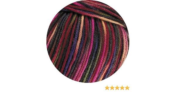 Fb 749 weinrot//pink//oliv 50 g Wolle Kreativ Cool Wool Print Lana Grossa