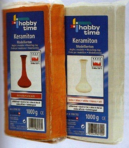 Preisvergleich Produktbild Keramiton-Modellierton, weiss 1kg