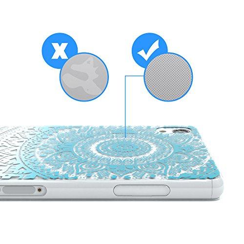 """Sony Xperia Z3 Hülle - EAZY CASE Slimcover """"Clear"""" Handyhülle - Schutzhülle als Smartphone Case in Schwarz / Anthrazit Henna Blau / Weiß"""