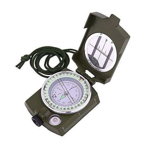 arekeke Multifunzione Bussola, Militare Compasso Professionale Clinometro Metallo Disegno Luce Fluorescente