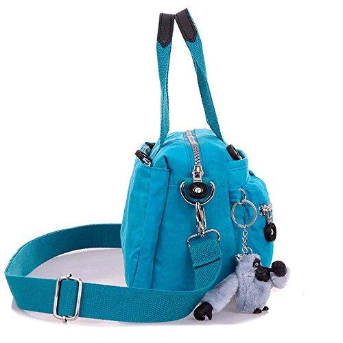 Femmes Nylon Sacs à bandoulière occasionnels Crossbody Sacs Messenger Bags Sacs à main Satchel , deep blue grape purple