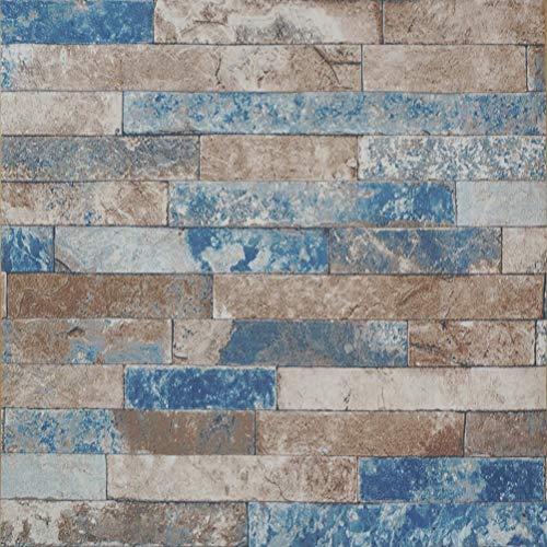 Tapete Prepasted Kontakt Papier Wandverkleidung Distressed gewaschen Faux Brick Stein selbstklebende Peeling und Stick Moistureproof wasserdichtes hängendes Papier für Wanddekoration (0,53 * 5,65 m) -