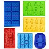 Eiswürfelbereiter Silikon-Formen 6-teiliges Set