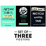 Best Wall Posters - Motivational Quotes Posters - Set of 3 Inspirational Review