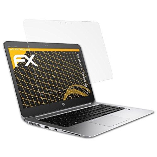 atFolix Panzerfolie kompatibel mit HP Elitebook 1040 G3 Schutzfolie, entspiegelnde & stoßdämpfende FX Folie (2X)