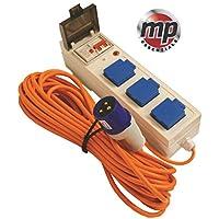 MP Essentials 3 Way Mobile Mains Unit Caravan Motorhome Campsite Power Hook Up RCD Cable Lead