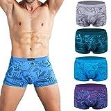Wirarpa Boxer Homme Microfibre Sous Vetements Modal Trunk Homme Underwear Lot de 4 Ultra Doux et Confortable Taille XL
