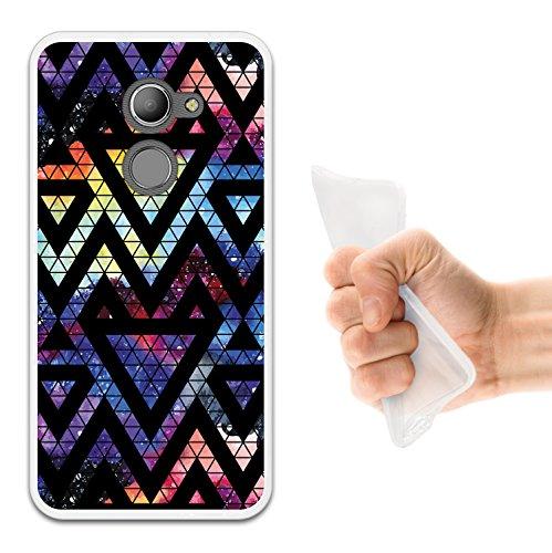 WoowCase Vodafone Smart N8 Hülle, Handyhülle Silikon für [ Vodafone Smart N8 ] Raum Galaxie Geometrische Dreiecke Handytasche Handy Cover Case Schutzhülle Flexible TPU - Transparent