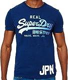 Superdry Herren T-Shirt M10011PP Blu (Princeton Blue Marl), X-Large