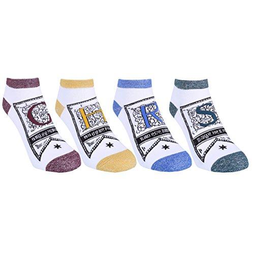 4 x Socks For Ladies Gryffindor Slytherin Hufflepuff Ravenclaw HARRY POTTER