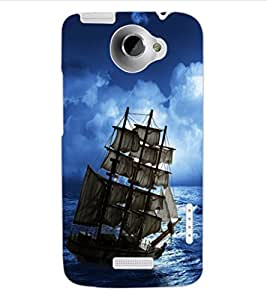 ColourCraft Amazing Ship Design Back Case Cover for HTC ONE X