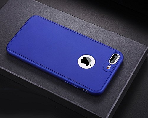 Custodia iPhone 6 Plus, iPhone 6S Plus Cover 360 Gradi Silicone, SainCat Custodia in Ultra Slim Silicone Cover per iPhone 6/6S Plus, 360 Gradi Full Body Antishock Custodia in Ultra Slim Silicone Case  Blu Scuro
