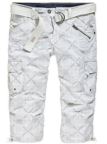Timezone Herren Shorts white line check