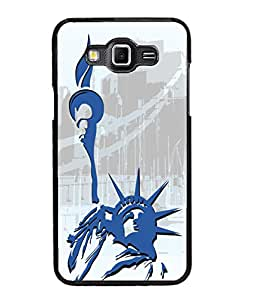 Fuson Statue of Liberty Pattern Back Case Cover for SAMSUNG GALAXY GRAND MAX - D4102