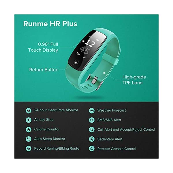Runme Activity Tracker, Fitness Tracker con Monitor de Ritmo cardíaco y sueño, Smart Fitness Watch con Podómetro, GPS Tracker, Impermeable IP67 para Android/iOS(Morado) 8