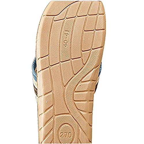 Naturale Uomini infradito pantofole deodorante anti-skid picture 2 (blue)