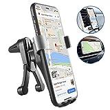 BOKEYU Supporto Auto Smartphone gravità, Alluminio Porta Cellulare Auto per iPhone XS Max XR X 8 7, Samsung S10 S9 S8 A50 A40 A70, Huawei P30 PRO P20 Mate 20 Lite P Smart,Redmi Note 7 etc.- Argento