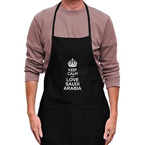 Teeburon Keep calm and love Saudi Arabia Delantal