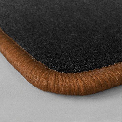Preisvergleich Produktbild (Randfarbe nach Wahl) Passgenaue Fußmatten aus Nadelfilz mit braunem Rand (315)
