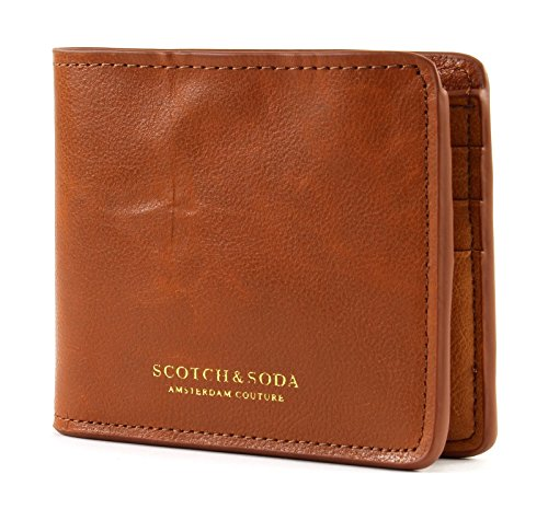 Classic Leather Classic Wallet (SCOTCH & SODA Classic Leather Billfold Wallet Tan)