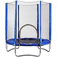Preisvergleich für Trampolin Komplettset kinder, Gartentrampolin Jumper Outdoor mit Sicherheitsnetz Sprungmatte und Randabdeckung Belastbar bis 150 KG, 180, Rund