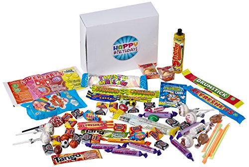 The 70 Piece Happy Birthday Retro Sweets Selection Gift Box!