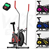 We R Sports 2-IN-1 Elliptical Cross Trainer & Exercise Bike Home Fitness Cardio Workout Machine (Red)