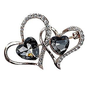iTemer Brosche Double Love Confession Geschenk Valentinstag Mode-Geschenk
