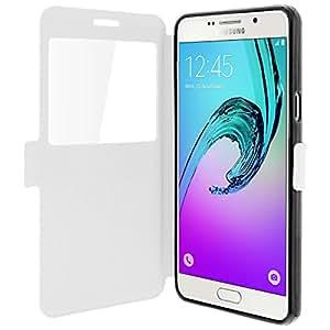 Colorfone - Etui Fenêtre Fonction Support vidéo Samsung Galaxy A5 2016 - Blanc