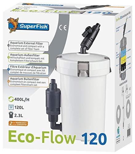 Superfish filtro esterno completo per acquario d'acqua dolce e marino con pompa da 400 l/h