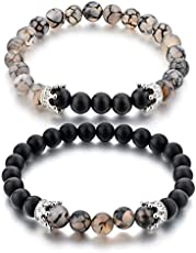 Couple & Combo Certified Natural Stones Reiki/Yoga Healing Stylish Distance Bracelet. Fashion Jewellery by Hot and Bold.