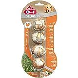 8in1 Delights Kaubälle, Größe S, gesunder Kausnack in Ballform für kleinere Hunde mit echtem Hähnchenfleisch, 4 Stück (1 x 36 g)