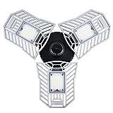 60W Faretto LED, Illuminazione di sicurezza 6000LM Pannello LED orientabile a 3 teste Proiettore LED, IP44 impermeabile 6000 K - Versione non attivata dal movimento