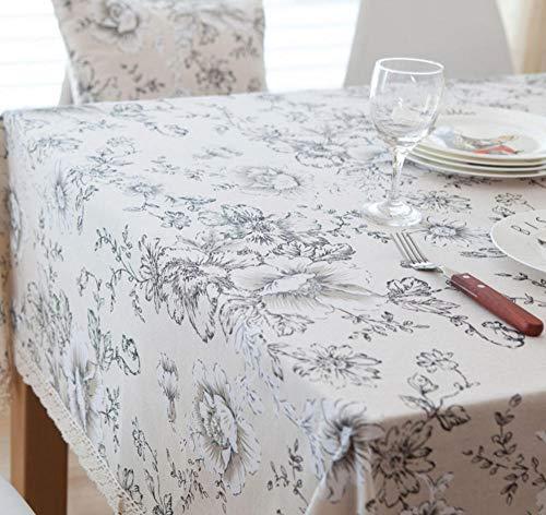 WWWLD Mantel Decorativo algodón Lino Mantel Rectangular Cubierta de la Mesa Chimenea...
