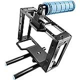 CAMSMART® Professional Pro 5D Mark II Rig Cage pour Canon 5D mark II 7 60 w/15 mm tige RIG pour DSLR appareil photo/vidéo (Cage S)