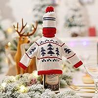LYFWL La Decoración De Navidad Tejer Creativa Botella Roja Fija Los Conjuntos De Vinos De Restaurantes De Supermercados Decoradas Conjunto Del Árbol De ...