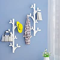 ZZHF yimaojia Solid Wood/Wall-mounted Creative Coat Rack/Living Room Wall Hangers/Bedroom Clothes Hook coat racks free standing (Color : B, Size : 78 * 26CM)