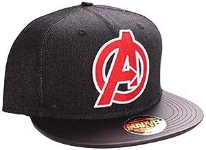Marvel ACAVENMCP004 - gorra de visera - Mixta - Negro - Talla (fabricante One Size) - Gorra logo vengadores negra