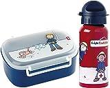 Sigikid Brotdose 24474 und Trinkflasche Frido Firefighter Feuerwehr 24484 Geschenkset für Kindergartenkinder oder ABC Schützen
