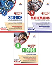 Olympiad Champs Science, Mathematics, English Class 8 with Past Questions (Set of 3 Books)