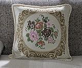 Pillow pillow Kissen Luxus-Sofa Rückenkissen Stickerei Jacquard-Kissen-Auto mit Core (Farbe : B)
