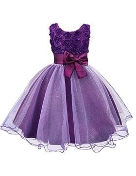 Muchachas de flor de boda formal de ropa de dama de fiesta de bautismo de la princesa del vestido de los ni?os...