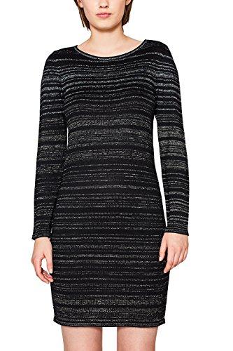 edc by ESPRIT Damen Kleid 117CC1E006, Schwarz (Black 001), X-Small