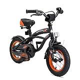 BIKESTAR Premium Sicherheits Kinderfahrrad 12 Zoll für Jungen ab 3 - 4 Jahre ★ 12er Kinderrad Cruiser ★ Fahrrad für Kinder Schwarz (matt)
