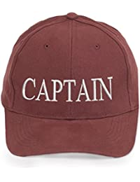 4sold 100% Cotton Ancient Mariner, Captain Cabin Boy Crew First Mate Yachting Baseball Cap inscription Lettering Maroon White