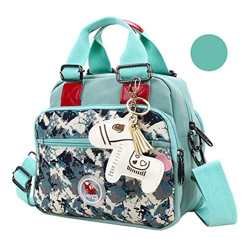 LUGUMU Damen Rucksack wasserdichte Schultasche Diebstahlsicher Nylon Backpack SchulrucksäCke Tasche,C