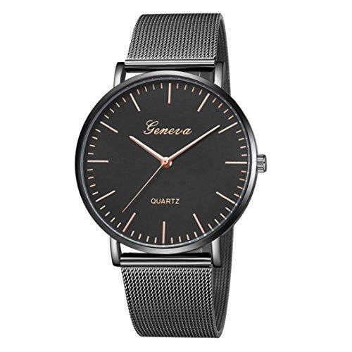Damen Uhren,Pottoa Genf Damen Klassische Quarzuhr | Edelstahl Armbanduhr | Luxus Armband Uhren |Damen Uhren Billig | Armbanduhr Damen Uhr Edelstahl Armband (J) (Rose Gold Luxus-uhr Genf)