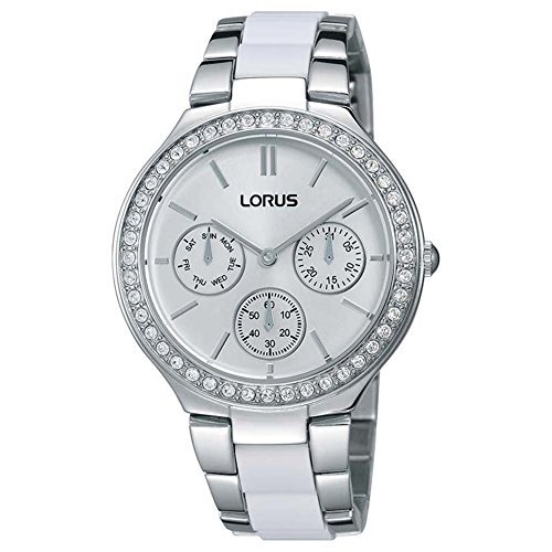 lorus womens chronograph quartz watch with stainless steel strap rp629cx9
